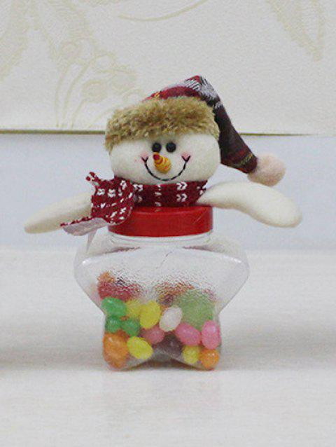Christmas Snowman Toy Kids Gift Star Shape Candy Jar - TRANSPARENT