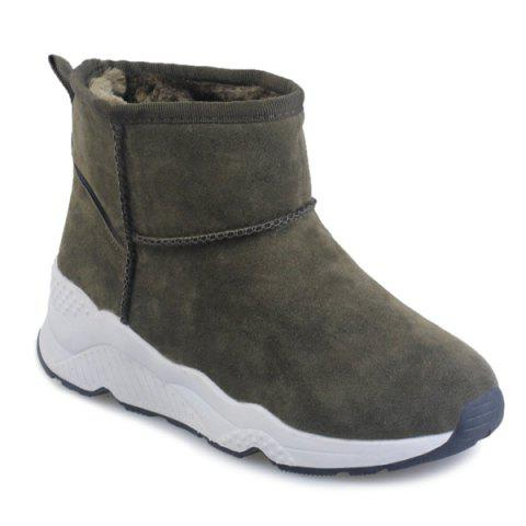 Casual Platform Ankle Snow Boots - GREEN 38