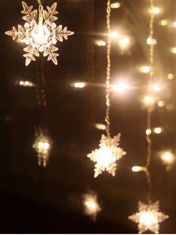 christmas party home decor snowflake pendant led string light