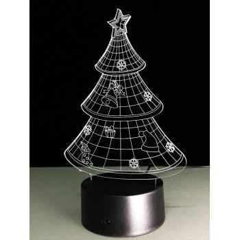 Festival 3D Christmas Tree Shape Touch Colorful Night Light -  TRANSPARENT