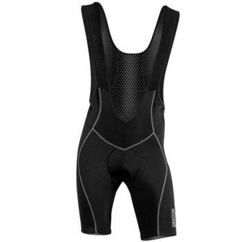 Men's High Quality Breathable 3D Cushion Pad Cycling Bib Shorts - BLACK BLACK