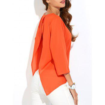 Backless Asymmetrical Chiffon Blouse