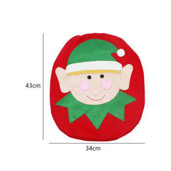 Christmas Decoration 3PCS Toilet Seat Cushion Cover Set -  RED/GREEN