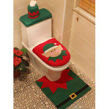 Christmas Decoration 3PCS Toilet Seat Cushion Cover Set