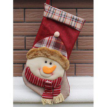 Christmas Snowman Design Hanging Gift Sock Xmas Tree Decor