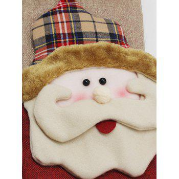 Christmas Santa Design Hanging Gift Sock Xmas Tree Decor - COLORMIX