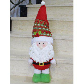 Christmas Standing Santa Claus Doll Party Decoration - RED WITH WHITE RED/WHITE