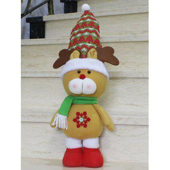Christmas Gift Standing Elk Doll Xmas Decoration - YELLOW YELLOW