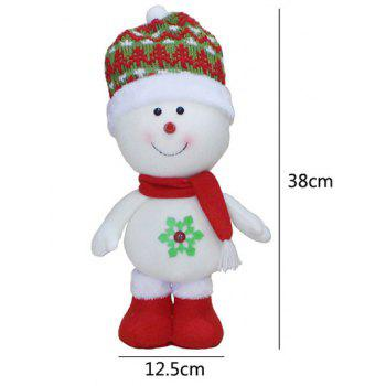 Christmas Standing Snowman Doll Party Decoration -  RED/WHITE