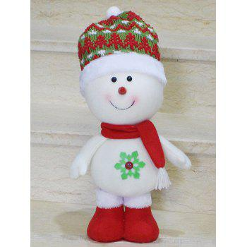 Christmas Standing Snowman Doll Party Decoration - RED WITH WHITE RED/WHITE