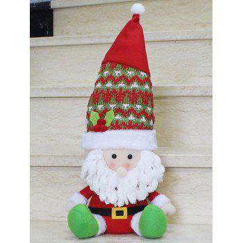 Christmas Sitting Santa Claus Doll Party Decoration - RED WITH WHITE RED/WHITE