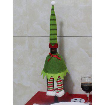 Christmas Stripe Clothes Design Wine Bottle Cover Bag