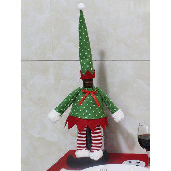 Christmas Table Decor Dot Clothes Design Wine Bottle Cover Bag