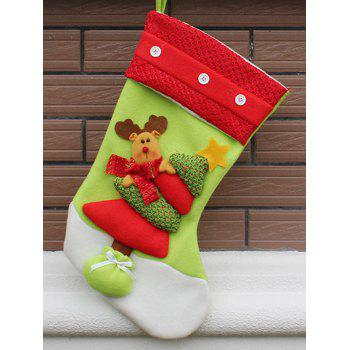 Party Decor Christmas Elk Hanging Present Stocking Bag - RED AND GREEN RED/GREEN