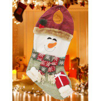 Christmas Snowman Hanging Present Stocking Bag Decoration