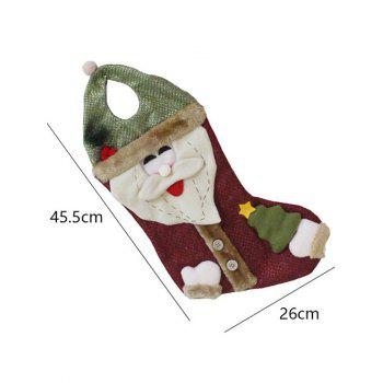 Christmas Santa Hanging Present Stocking Bag Decoration -  RED/GREEN