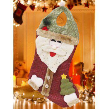 Christmas Santa Hanging Present Stocking Bag Decoration - RED AND GREEN RED/GREEN