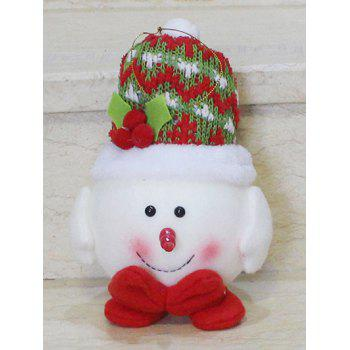 Cute Snowman Hanging Doll Pendant Christmas Decoration -  RED/WHITE
