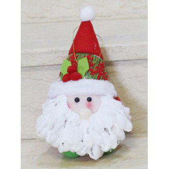 Christmas Gift Santa Claus Doll Pendant Xmas Tree Decoration - RED/WHITE