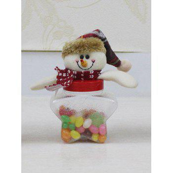 Christmas Snowman Toy Kids Gift Star Shape Candy Jar - TRANSPARENT TRANSPARENT