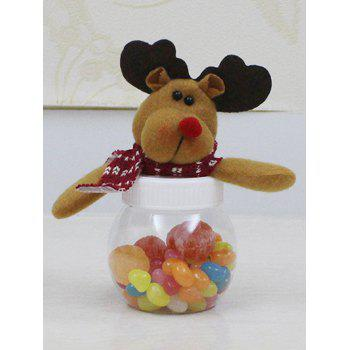 Christmas Plush Elk Doll Transparent Candy Jar
