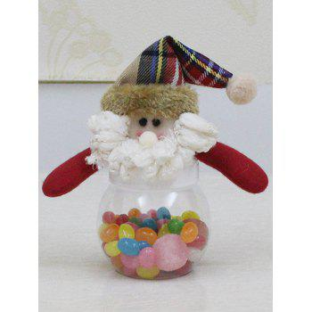 Christmas Plush Santa Doll Transparent Candy Jar