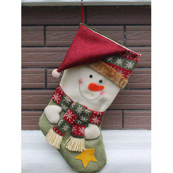 Christmas  Decor Snowman Pattern Kids Gift Sock