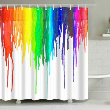Ink Painting Waterproof Bathroom Shower Curtain