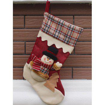 Christmas Tree Decor Snowman Pattern Children Gift Sock