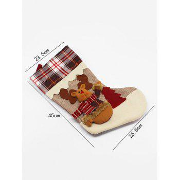 Christmas Tree Decor Elk Pattern Children Gift Sock - COLORMIX
