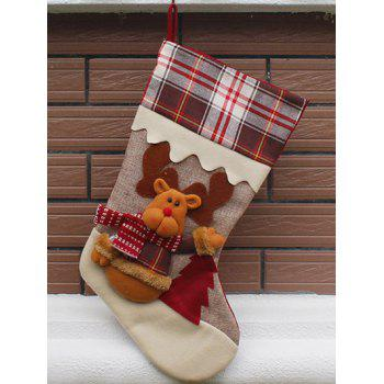 Christmas Tree Decor Elk Pattern Children Gift Sock - COLORMIX COLORMIX