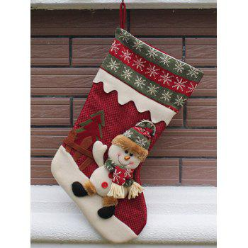 Christmas Decor Hanging Stocking Children Present Bag - RED RED