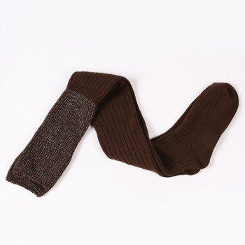 Ribbed Knit Stockings -  COFFEE