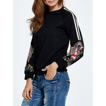 Embroidered Drop Shoulder Sweatshirt
