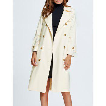 Bowknot Side Slit Trench Coat