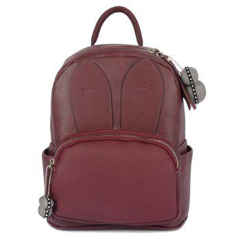 PU Leather Rabbit Ear Backpack