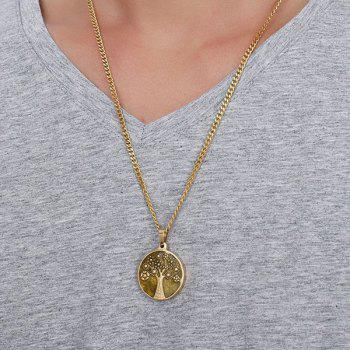 Tree of Life Coin Pendant Necklace