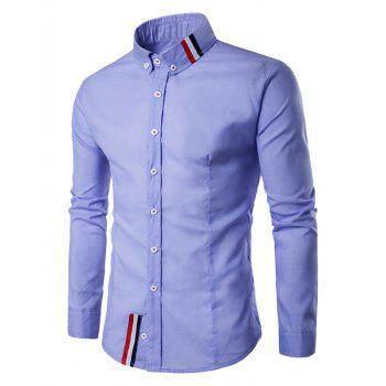 Buy Striped Long Sleeves Button Shirt BLUE