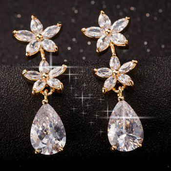 Floral Faux Crystal Dangle Earrings