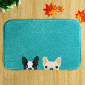Antislip Absorbent Two Dog Room Door Carpet