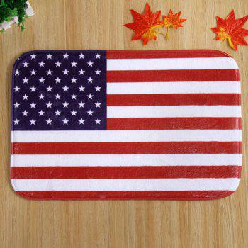 Antislip American Flag Design Room Door Carpet - RED STRIPE RED STRIPE