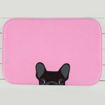 Puppy Antislip Soft Absorbent Room Door Carpet - PINK PINK
