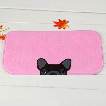 Puppy Antislip Soft Absorbent Room Door Carpet -  PINK