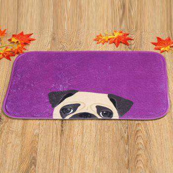 Dog Design Antislip Absorbent Room Door Entrance Carpet -  PURPLE