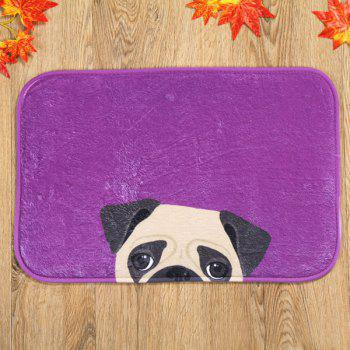Dog Design Antislip Absorbent Room Door Entrance Carpet - PURPLE PURPLE