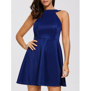 Backless Sleeveless Fit and Flare Dress
