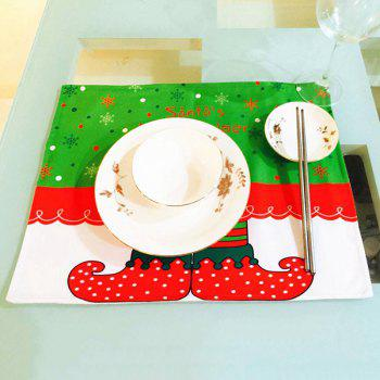 Christmas Home Decor Elves Printing Table Mat