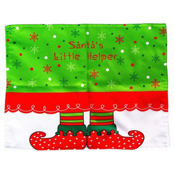Christmas Home Decor Elves Printing Table Mat - RED/GREEN