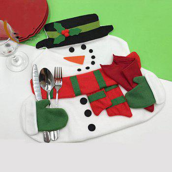 Christmas Home Decor Snowman Double Table Mat - COLORMIX COLORMIX