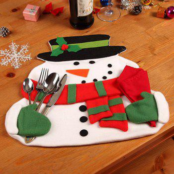 Christmas Home Decor Snowman Double Table Mat -  COLORMIX